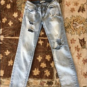 Bullhead Skinny Distressed Light Wash Jeans Size3